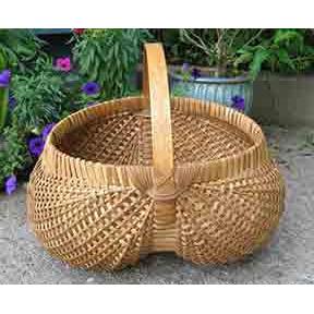 Hand-woven basket by Kristine Myrick Andrews