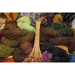 Hand dyed and spun yarn by Maggie's Farm