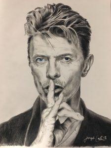David Bowie drawing by Joe Cole