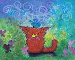 Cranky Cat by Cindy Schmidt