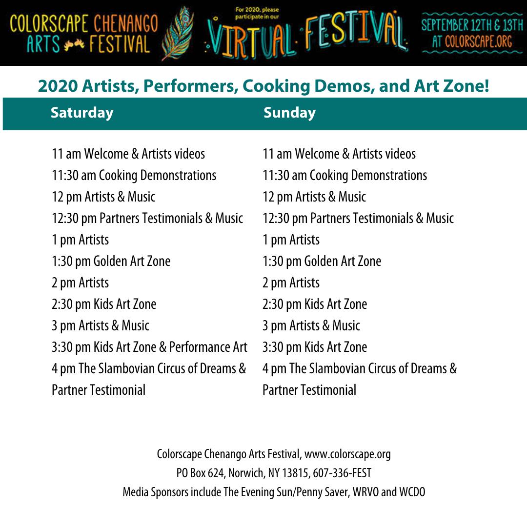 26th Annual Colorscape Chenango Arts Festival Kicks Off Virtually This Saturday