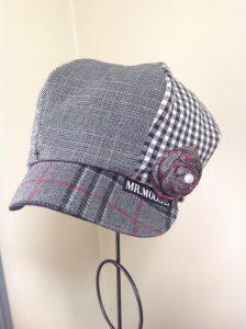 Pegg Parker's hat design on display