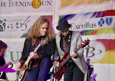 Two guitarists perform at the Colorscape Chenango Arts Festival